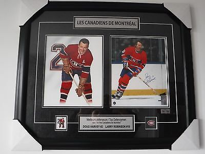 &LARRY ROBINSON MONTREAL CANADIENS SIGNED FRAMED PRINT W/COA (Larry Harvey)