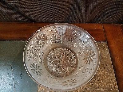 "Indiana Glass Tiara Sandwich Clear 8 1/2"" Large Fruit Bowl Dish"