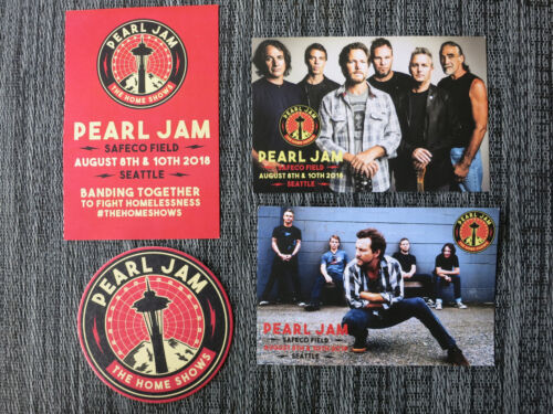 Pearl Jam Home Shows postcards flyer coaster from VIP area Suite! Eddie Vedder