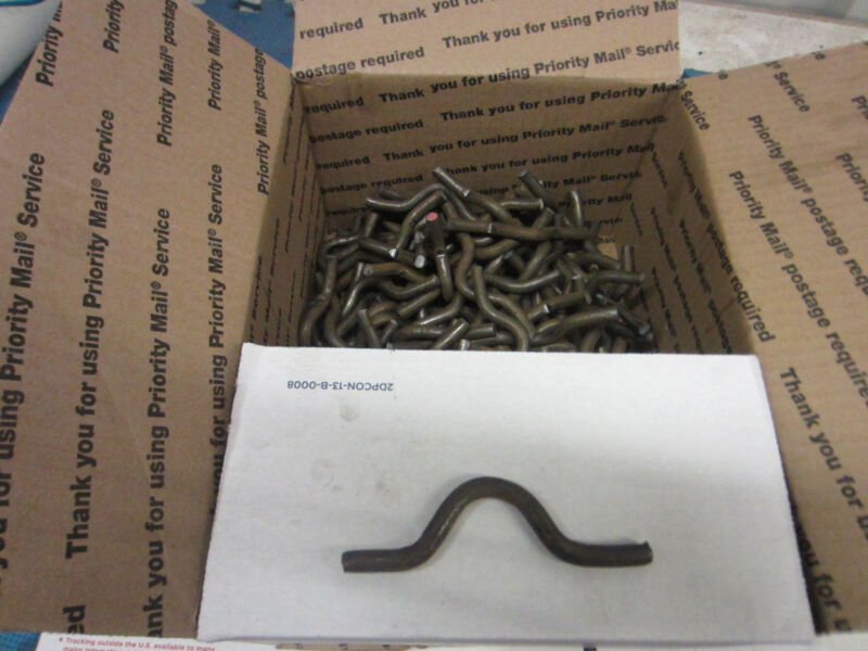Weld on fence clips size 5/16 by 1 inch lot of 200