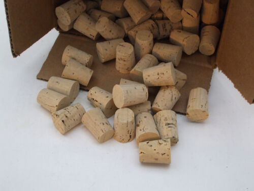 """CORKS Size 6, Push-In, Tapered, Round Cork Plugs, Large End 3/4"""" OD"""