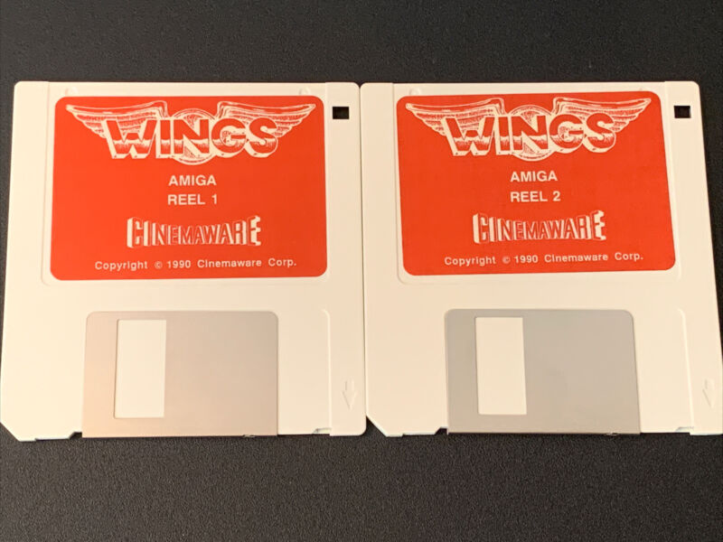 """Wings Commodore Amiga Game on 3.5"""" disks"""