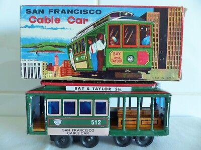 1960's JAPAN SAN FRANCISCO CABLE CAR-RTE 512-BAY AND TAYLOR-POWELL & MASON Sts.