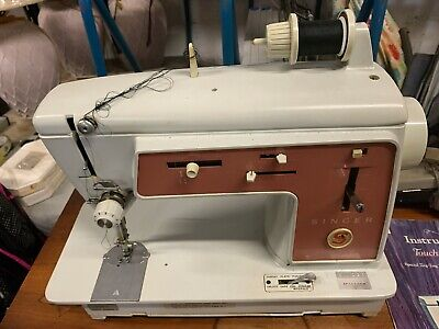 SINGER Pink Touch & Sew Special Zig-Zag 626 Sewing Machine w/ Table  1966