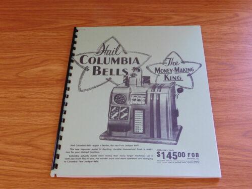 COLUMBIA MANUAL 8 Page SLOT MACHINE MANUAL ANTIQUE SLOT MANUAL REPRO COLUMBIA