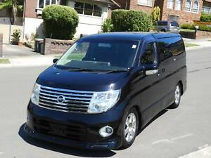 2007 Nissan Elgrand highway star low ks 3.5 v6 many extras 6 in stock Haberfield Ashfield Area Preview