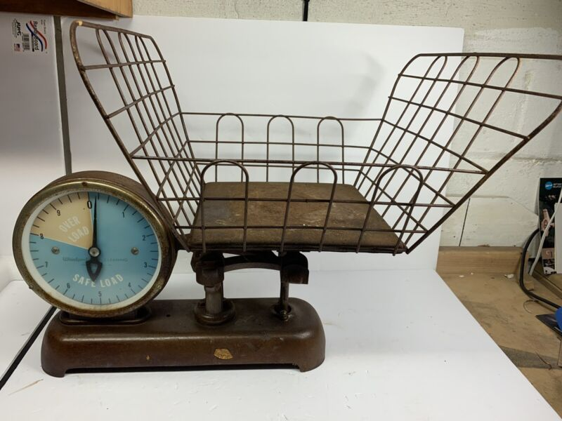 Rare Vintage Detecto  Whirlpool Dry Cleaning Scale Wire Basket Original