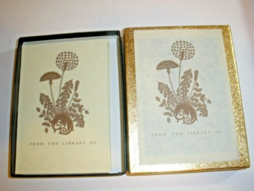 Vintage Dandelion Antioch Bookplates From The Library Of Original Box