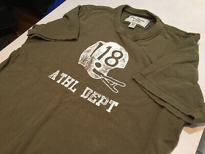 abercrombie fitch t shirt Xl Athletic Dept Football Helmet Olive Green