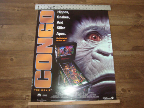 "Williams, CONGO, Original Pinball Poster For Framing, Size 28"" X 22"""