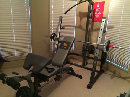 Free Weights Gym Workout Bench with Weights Anstead Brisbane North West Preview