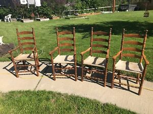 High back antique chairs 4