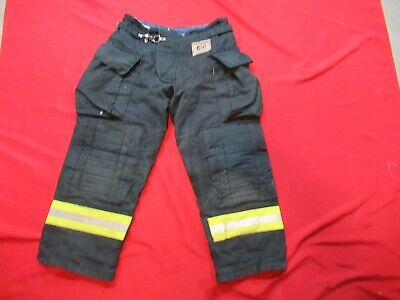 Morning Pride Fire Fighter Turnout Pants 32 X 27 Black Bunker Gear