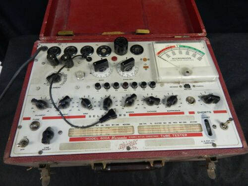 VINTAGE HICKOK MODEL 600A MICROMHO DYNAMIC MUTUAL CONDUCTANCE TUBE TESTER