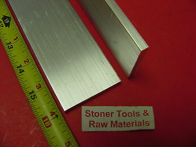 2 Pieces 14 X 2 Aluminum 6061 Flat Bar 16 Long T6511 .25 Plate Mill Stock