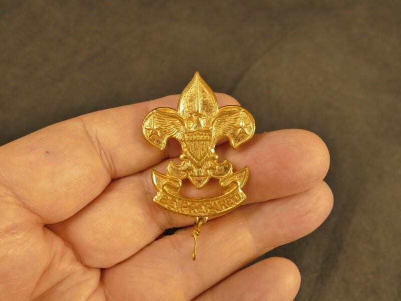 BOY SCOUTS OF AMERICA BSA LARGE 1ST CLASS PIN 1920-1934 TYPE 9C TUCSON ESTATE