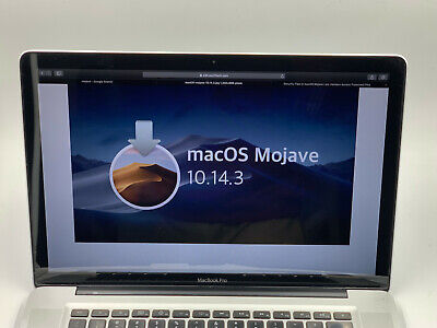 "APPLE 2012 MACBOOK PRO 15"" QUAD CORE i7 UPGRADE 8GB RAM 512GB SSD 10.14 MOJAVE"