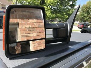 Telescoping side view mirrors