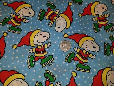 DOG BANDANA Sz XS-L Over Collar SNOOPY ICE SKATING CHRISTMAS Holiday Snow Blue