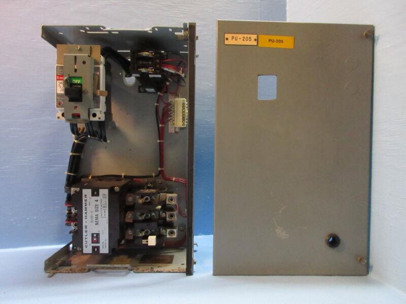 "Cutler Hammer Eaton F10 Unitrol Size 4 Starter 150 Amp Breaker 24"" MCC Bucket"