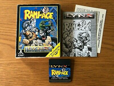Atari Lynx Boxed Game - Rampage by Atari Corp / Epyx (Small Box)