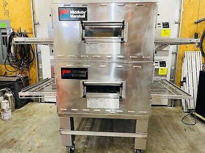 Middleby Marshall Ps840g Ve2-ph Nat. Gas Double Stack Conveyor Pizza Ovens