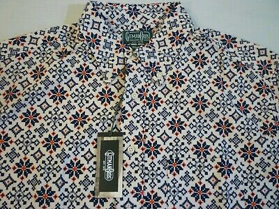 GITMAN BROS VINTAGE Snowflake Flannel New WO Tags $215 XL Made In USA