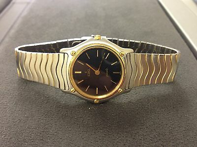 Ebel Swiss Classic Wave Watch 18K Gold And Stainless Steel- Unisex Size