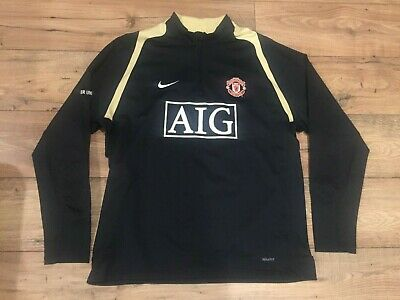 57d8a9adda359 Manchester United Soccer Warmup Jersey Pullover Jacket - Size L Large
