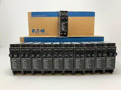 New Eaton Cutler Hammer Bd2020 20 Amp 20a Tandem Twin Circuit Breakers