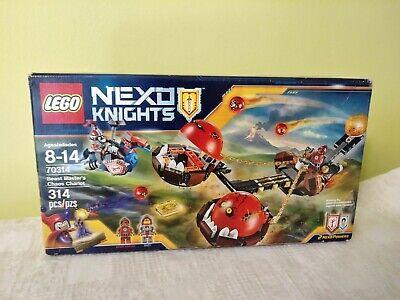 LEGO NEXO KNIGHTS 70314 BEAST MASTER'S CHAOS CHARIOT. Brand new