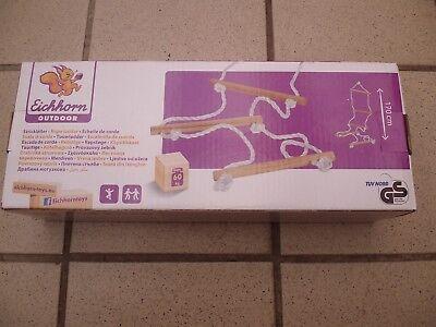 Outdoor-kinderspielzeug (1x Eichhorn Strickleiter Outdoor Kinder Spielzeug Leiter 170cm max.bis 60 kg Neu)