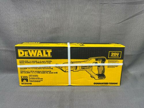 Dewalt DCS494B Cordless 14ga Swivel Head Double Cut Shear (TOOL ONLY) BRAND NEW