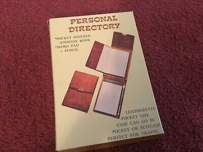 Personal Pocket Directory With Note Pad And Pencel