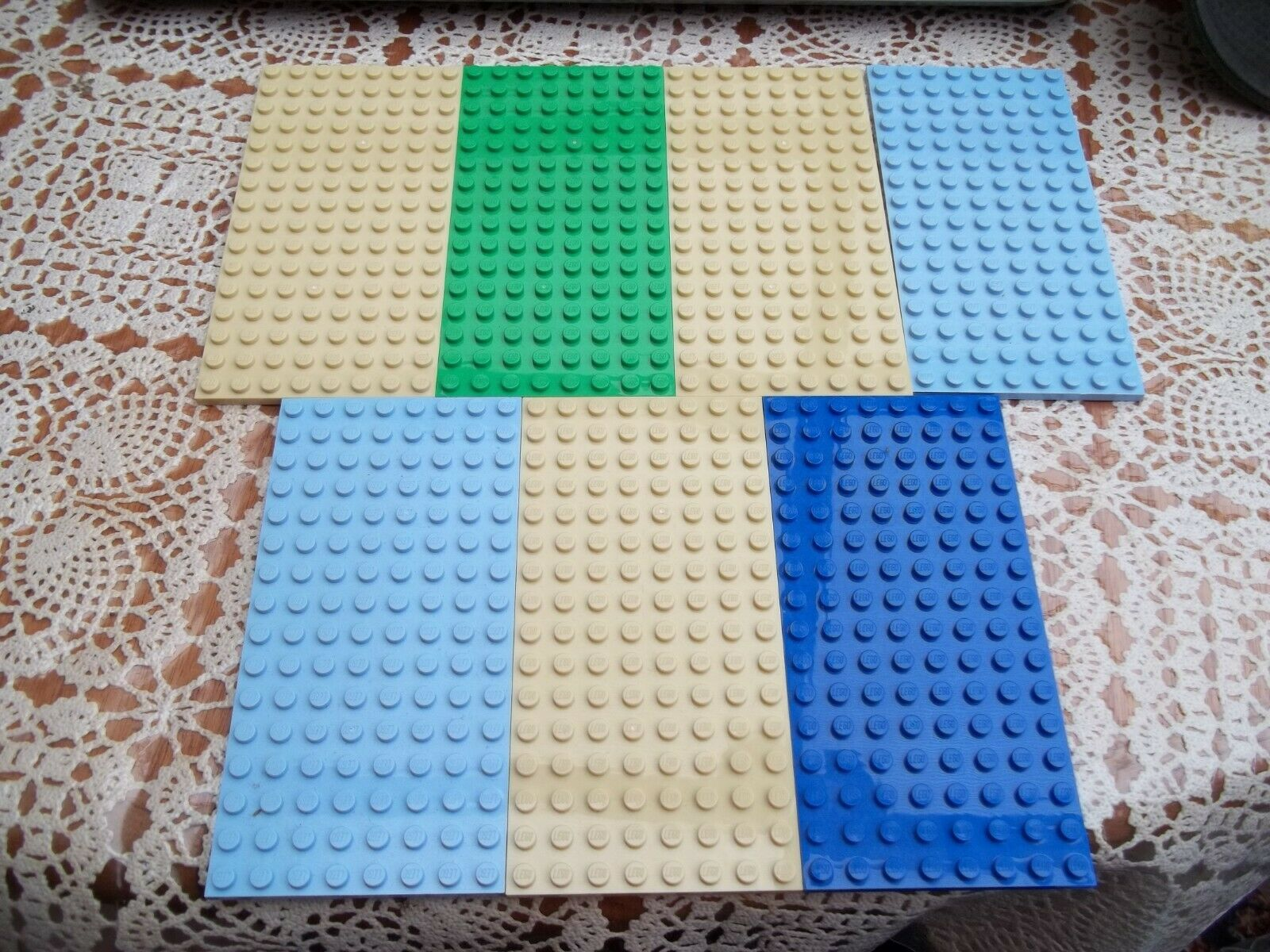 Genuine Lego Base Plate Building Board 8 x 16 92438 Green Blue Yellow Pink