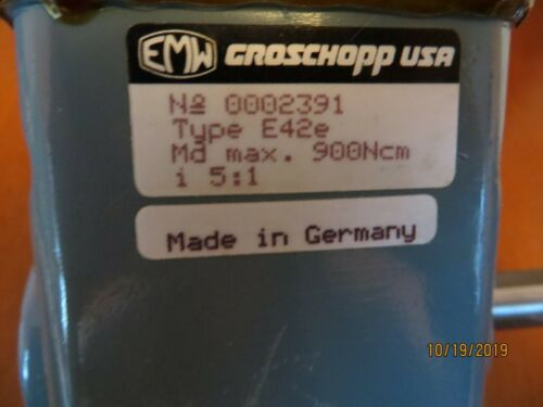 Groschopp right angle gearbox 5:1 (lot of 2)