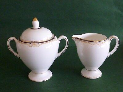 Wedgwood Cavendish Creamer or Milk Jug & Sugar Bowl - Handled & Covered/Lidded