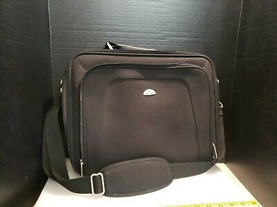 "Samsonite Messenger 16"" Computer Laptop Bag / Business Briefcase Black NICE!"