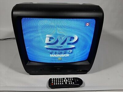 """Magnavox CD130MW9 13"""" TV DVD CRT Television Retro Gaming W/Remote tested working"""