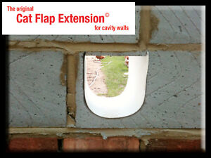 Cat Flap Extension/Extender - creating a tunnel/bridge for thick or cavity walls