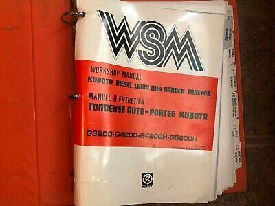 Wsm Kubota Workshop Manual G3200g4200g4200hg5200h