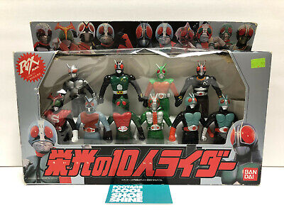 1993 BANDAI JAPAN KAMEN K. RIDER RX BLACK SERIES 10 FIGURE SET SOFUBI NEW  for sale  Shipping to India