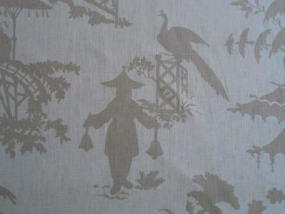 """Kravet Barbara Barry """"INDO DAY"""" Fabric 8-16 yards CHINOISERIE Silhouette Toile"""