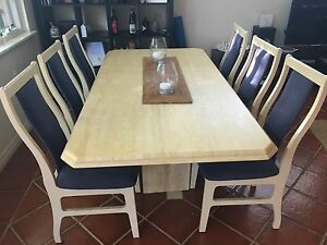 Sandstone Dining Table with 6 Chairs Inglewood Stirling Area Preview