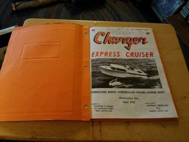 HARTMAN FIBREGLASS  Tugboat Rc Boat circ 1973 Catalog Goliath Orig corresponden