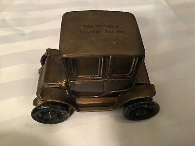 Vintage Banthrico 1910 Baker Electric Car Promo Coin Bank the Norwich savings so