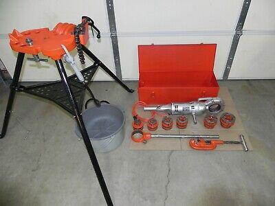Ridgid 700 Power Threader 115v12r Set 12 - 2case Oiler Rigid Complete