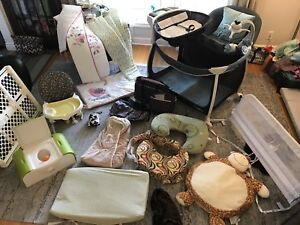 Huge lot of baby stuff.  Pack & play, high chair, potty..