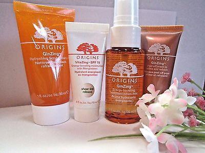 Origins Ginzing Cleanser   Treatment Lotion 1Oz Vitazing Moisture Cream   Mask 5