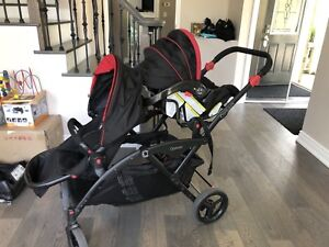 Contour double stroller like new